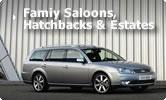 Family Saloon, Hatchback and Estates